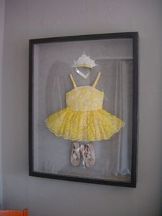 Such a cute idea to do for their very first dance recital and you can keep for years - great idea!!