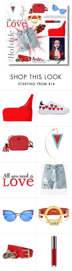 """Shorts"" by sukia ❤ liked on Polyvore featuring STELLA McCARTNEY, Chiara Ferragni, Dolce&Gabbana, Fendi, Brewster Home Fashions, Off-White, Chloé, Alexander McQueen and Chantecaille"