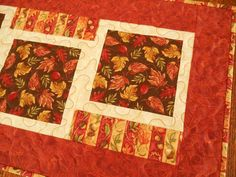Quilted Fall Table Runner Thanksgiving Decor with by susiquilts