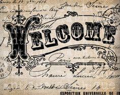 Antique Paris Postmarks Label Script Ornate by AntiqueGraphique