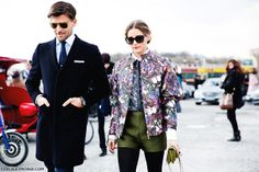 Paris_Fashion_Week_Fall_14-Street_Style-PFW-_Valentino-Olivia_Palermo-2 por collagevintageblog, a través de Flickr