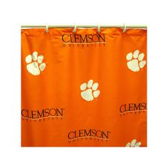 College Covers Clemson Tigers Printed Shower Curtain Cover, Multicolor