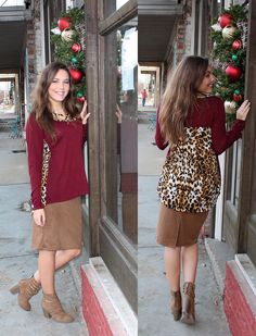 Maroon Leopard Print with Crisscross Neck Detail Top, Regularly $21.99 | Shop this product here: http://spreesy.com/Ohhmy/52 | Shop all of our products at http://spreesy.com/Ohhmy    | Pinterest selling powered by Spreesy.com