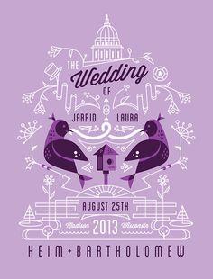 Lovely wedding invitation.
