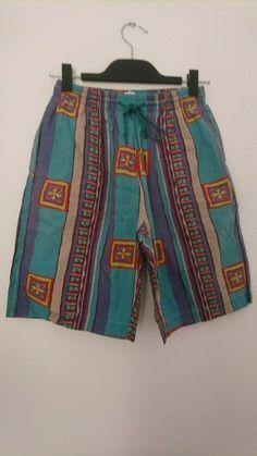 1d034e6c0f Vintage Old school Swim Shorts size M Mens trunks colourful stripe print  Festiv. Very vibrant