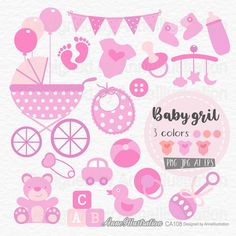 Baby GirlBaby Shower ClipartPinkPastelBaby | Etsy Clip Art, Shower, Baby, Rain Shower Heads, Showers, Baby Humor, Infant, Babies, Babys