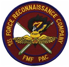 FMF-PAC 1st Force Recon Co. Patch