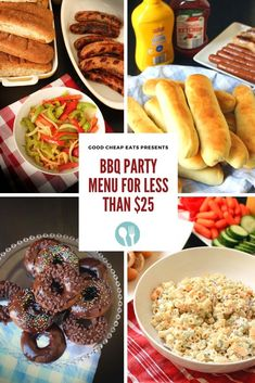 BBQ Party Meal Plan for Less than $25! Bbq Party Menu, Homemade Hot Dogs, Veggie Tray, Leftovers Recipes, Feeding A Crowd, Healthy Eating Tips, Eating Plans, Recipe Collection, Hot Dog Buns