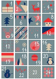 Diy Cuarto Pared - Diy Art Pictures - Diy Slime With Model Magic - Diy Crafts For Adults Christmas Countdown, Christmas Calendar, Christmas Time, Christmas Crafts, Christmas Decorations, Advent Calander, Diy Advent Calendar, Free Printable Christmas Cards, Calendar Numbers
