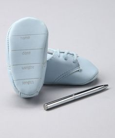 Take a look at this Blue Booties & Pen by Baby Deer on #zulily today!