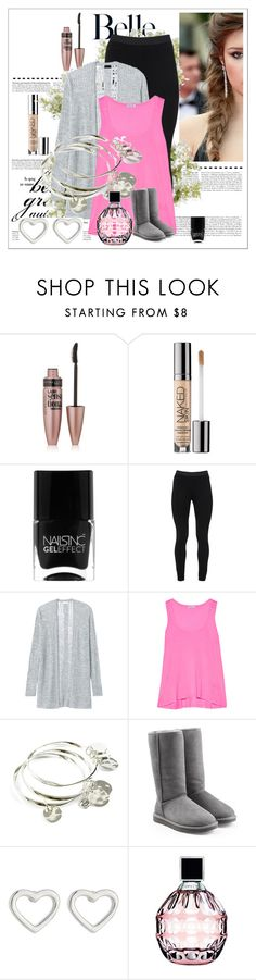 """back to school"" by dishab31 on Polyvore featuring Maybelline, Sephora Collection, Nails Inc., Peace of Cloth, Rebecca Taylor, Splendid, Vera Bradley, UGG Australia, Marc by Marc Jacobs and Jimmy Choo"
