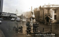 Blended image of five ways in 1900 & now