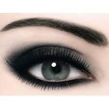 Augen Make up / Smokey Eyes - Smokey Eye Makeup Silver Smokey Eye, Smoky Eyes, Smokey Eye Makeup, Makeup Eyeshadow, Eyeshadow Brands, Smokey Eyeshadow, Pigment Eyeshadow, Makeup Brands, Smoky Eye Black