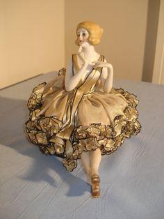 Antique Half Doll Pin Cushion German