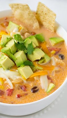 Creamy Chicken Tortilla Soup (GF)