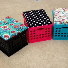 Crate seats for my classroom