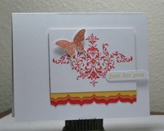 just for you using Stampin Up Bliss