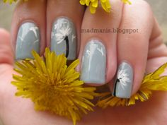 Make a Wish - Dandelion Nail Art by Madmani Try more on http://bellashoot.com