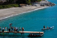 "Kastani Beach on Skopelos Island, Greece (while shooting ""Mamma Mia!"" during the summer of 2007)"