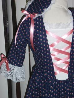 1770s  Historical Colonial Gown Dress by alohagirldollclothes