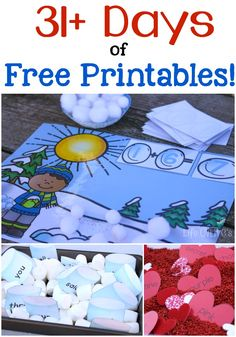 31 days of free printables for hands-on learning! Wow! Don't miss a day of these high-quality learning printables!