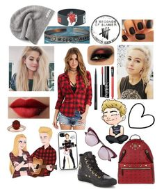 """""""Luke Hemming ~5SOS"""" by amber-gabelt on Polyvore featuring Kay Jewelers, Forever 21, NARS Cosmetics, MCM, Allurez, Le Specs, Converse and MAC Cosmetics"""