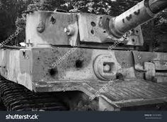 A Tiger 1 that has seen it's fair share of battle with all the hits it has taken.