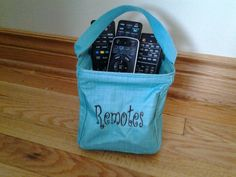 Great bag for our million remotes.