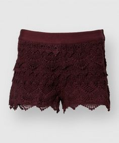 These vintage inspired lace shorts are perfect for the game or any warm day. Made of super soft 100% cotton these shorts feature alternating lace patterns sewn on a soft jersey short.