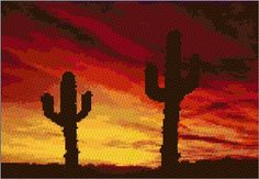 Sonora Sunset Free cross stitch pattern site  Embroidery Kit 1656