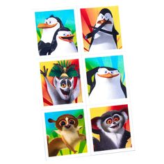 Penguins of Madagascar Sticker Sheets Penguins of Madagascar Stickers (4) Weight (lbs) 0 Length (inches) 7 Width (inches) 4 Height(inches) 0.25