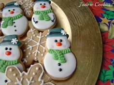 Winter Snowmen Cookies