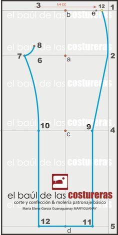 EL BAÚL DE LAS COSTURERAS: Pantalón a medida. Primera Parte: Trazado molde delantero