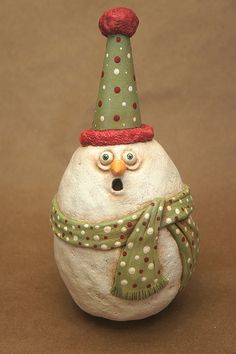 Snowball  Surprised by chickenlipsfolkart on Etsy