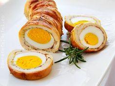 Rulada din piept de pui cu oua am perparat-o inainte de Paste pe post … Romanian Food, Cooking Time, Carne, Tea Party, Chicken Recipes, Sandwiches, Food And Drink, Appetizers, Eggs