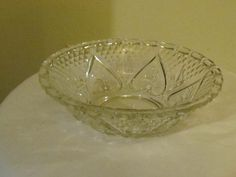 Heart Flower Pressed Glass Bowl etsy $8.99