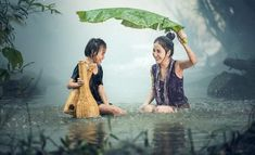 Free Image on Pixabay - Woman, Young, Rain, Pond, Cambodia Beste Reisezeit Thailand, Free Pictures, Free Images, 4k Photography, People Photography, Tattoo Arm Frau, Thé Oolong, Sound Of Rain, Rain Sounds