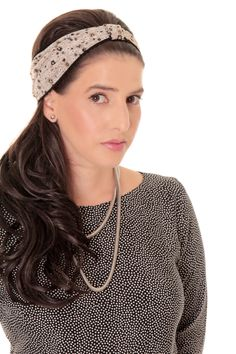 Winter sale - Gray headband - Bandanna headband - Headband with flowers…