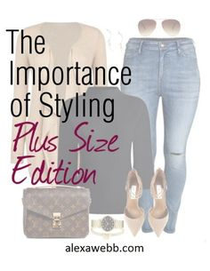 The Importance of Styling Outfits - Plus Size Edition - Alexa Webb Fashion Advice, Fashion Outfits, Womens Fashion, Fashion Ideas, Ladies Fashion, Fashion Inspiration, Fashion Hacks, Fashion 2016, Work Fashion