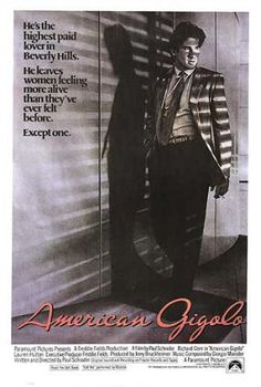 Films with fashion influence - 1980 American Gigolo poster