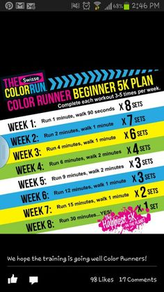 5k training plan. Foam Fun Run