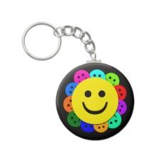 smiley faces key chains -