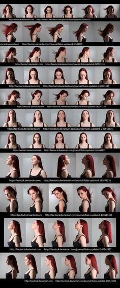 Female face angles &...