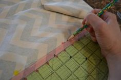 sewing sides of back