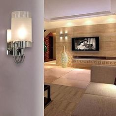 31.29$  Buy now - http://alicss.shopchina.info/go.php?t=32235454368 - Modern LED Wall Lamp Lights For Home with Cylinder Frosted Glass Shade  Wall Sconce Free Shipping  #buymethat