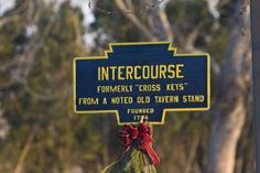 There is actually a town called 'Intercourse' in Lancaster County, PA