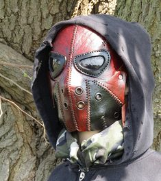 Dystopia Rising, Steampunk Mask, Leather Mask, Borderlands, Oxblood, Paintball, Post Apocalyptic, Steam Punk, Shopping