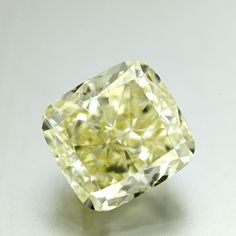 Shape: Cushion | Weight: 7.03ct | Color: Fancy Light Yellow | Clarity: VS1 | LAB: GIA | Cert Link: http://download.certimage.com/Certificates/PP0677.pdf  #fancycolordiamonds #middiamonds #fancy #diamonds #diamond #mid #Cushion #GIA