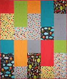A great child or baby quilt or make it a fun wall hanging. Blockade Quilt Pattern QCD-T112 by The Quilting Cupboard - Ann Kisro.  Check out our wall hanging patterns. https://www.pinterest.com/quiltwomancom/quilted-wall-hangings/  Subscribe to our mailing list for updates on new patterns and sales! http://visitor.constantcontact.com/manage/optin?v=001nInsvTYVCuDEFMt6NnF5AZm5OdNtzij2ua4k-qgFIzX6B22GyGeBWSrTG2Of_W0RDlB-QaVpNqTrhbz9y39jbLrD2dlEPkoHf_P3E6E5nBNVQNAEUs-xVA%3D%3D