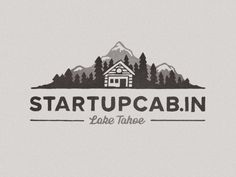 Startup cabin logo with classic composition